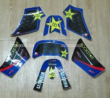 ROCKSTAR Graphics Decals Sticker Kit For YAMAHA PW50 PW 50CC Blue New
