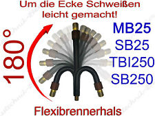 Flexibler Brennerhals MB25 TBI 250 SH25 FX/AK Brennerkörper Ergoplus MIG/MAG 25