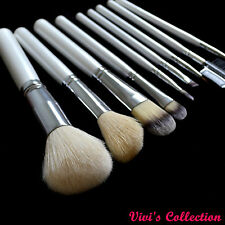 Vivi's Collection 10 Pcs Makeup Brush Set Goat Hair Synthetic Fiber With Case