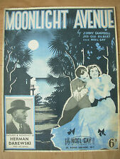 VINTAGE SHEET MUSIC - MOONLIGHT AVENUE - PIANO VOICE UKULELE - 1940