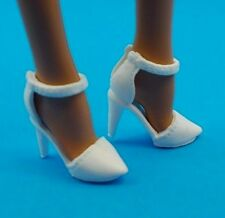 2016 Barbie Shoes Fashionistas & Model Muse White Ankle Strap Closed Toe Heels