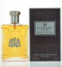 Safari By Ralph Lauren For Men Eau De Toilette 4.2 oz 125 ml Spray New Sealed