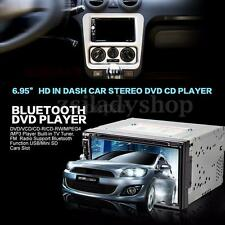 7'' 2 Din Bluetooth HD Touch Screen In Dash Car Head Unit Stereo Audio CD Player