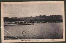 Calabria. REGGIO CALABRIA. Ferry Boats in corsa. Cartolina viaggiata nel 1928.