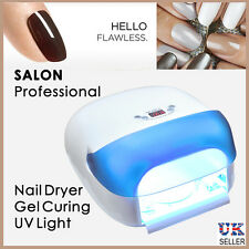 NAIL ART DRYER WITH FAN SENSOR FINGER POLISH TOE VARNISH UV LIGHT GEL CURING