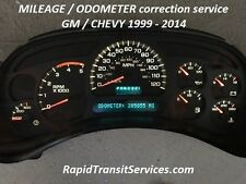 1999-2014 GM/Chevrolet Speedometer Cluster Odometer/Mileage Correction Service