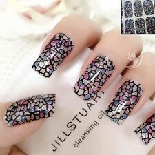 Mosaic Sparkly Nail Art tips Sticker Decal Full Wraps Acrylic #06158 Free P&P