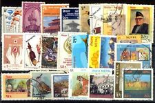 NEPAL 25 All Different Large Thematic Flora & Fauna Stamps