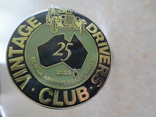 Vintage Driver's Club car badge for Ford Holden MG Jaguar VW Austin Mini