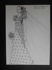 """Illustration vintage de mode """"Serge Le page pour Jacques Heim"""" 70's"""