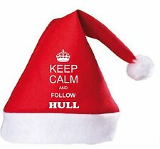Keep Calm And Follow Hull Christmas Hat.Secret Santa Gift