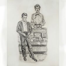 """Illustration Frank E. Zuccarelli (American 1921-2012) """"Lilacs In The Rain"""" Study"""