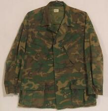 1969 VIETNAM HIGHLAND ERDL CAMO RIPSTOP POLPLIN JUNGLE JACKET ~ Sz M ~ ALPHA IND