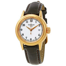 Tissot Carson White Dial Brown Leather Ladies Watch T0852103601200
