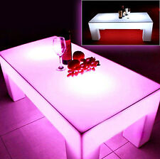 NEW SQUARE XAVIER LED LIGHT COFFEE TABLE OUTDOOR & INDOOR WITH REMOTE CONTROL