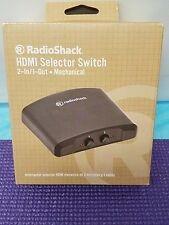RadioShack 1500467 2 In 1 Out Mechanical HDMI Selector Switch