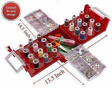 Compact Foldaway Sewing Box Kit ,Over 100 piece Set Fits All Brother, Singer Sew