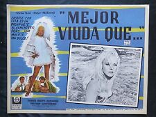 "SEXY VIRNA LISI ""BETTER A WIDOW""""MEGLIO VEDORA"" NEVER USED LOBBY CARD 1968"