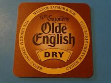 Welsh Cider Beer Coaster    Wm GAYMER'S Old English Dry Cyder ~ WALES Since 1770