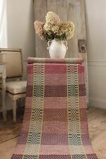 RAG RUG vintage European hand-woven carpet hallway  area rug Stair runner 5 YDS