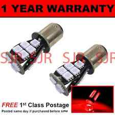 380 BAY15D 1157 XENON RED 18 SMD LED STOP TAIL BRAKE LIGHT BULBS X2 ST201102