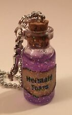 Mermaid Tears Handmade Glass Potion Bottle Necklace  Scented