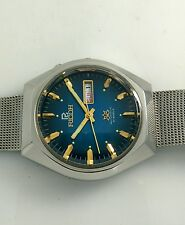 NOS Ricoh vintage automatic blue dial watch new old stock, MINT 80's stock.L8.