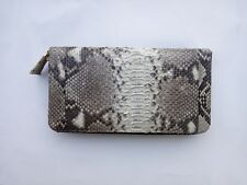 Genuine Real Python Snake Skin Leather Woman's Zippered Wallet Pursue Handmade
