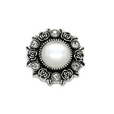 3D Rhinestone Drill Snap Chunk Charm Button Fit For Noosa Leather Bracelet