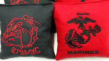Set of 8 USMC Marines Embroidered Cornhole bags Regulation Size/Weight Corn Toss