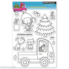 New Penny Black CHRISTMAS EXPRESS Clear Stamps Holiday Mimi Girl Tree Candy Cane