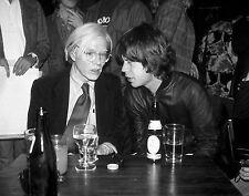 Andy Warhol & Mick Jagger 11 x 14 Print  #  #3105