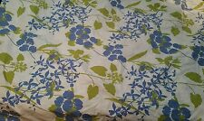 Pottery Barn green blue white FLORAL Botanical plants DUVET COVER Queen Full