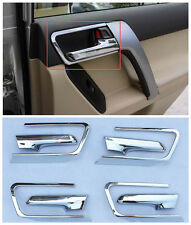 8X Chrome Door Handle bowl + handle Cover trim For Toyota Prado FJ150 2014-2016