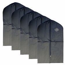 "New 5 PCS Garment Bag for suit, dress black 40 "" w/ transparent window"
