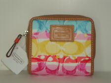 Coach Hamptons Weekend Stripe Mudium Zip & Snap ~ 41373