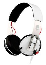 Skullcandy moler Premium On-Ear Headphones Micrófono de control de TAP-Tech Blanco/Negro/Rojo