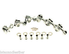 Kluson Revolution H-Mount LOCKING 6 In line Chrome Tuners Fits Fender Strat