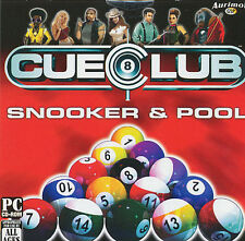 CUE CLUB Billiards Pool Snooker 8-ball Simulation PC Game for Windows NEW CD
