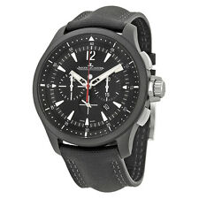 Jaeger Lecoultre Master Compressor Chronograph Black Dial Mens Watch Q205C570