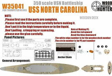 1/350 USN Battleship USS North Carolina Wooden Deck for Trumpeter #05303