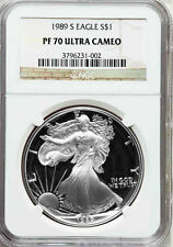 1989-S NGC PF70 Ultra Cameo Proof Silver Eagle