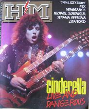 HM 57 1989 Cinderella Lita Ford Michael Schenker Thin Lizzy Vengeance Kix Slayer