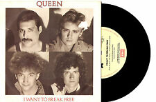 """QUEEN - I WANT TO BREAK FREE - 7"""" 45 VINYL RECORD PIC SLV 1984"""