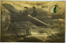 Cartolina Aviazione - Aereo In Volo Con Soldati Francesi - Viaggiata