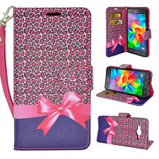 For Samsung Galaxy J3 Cell Phone Case Hybrid PU Leather Wallet Pouch Flip Cover