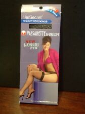 "HerSecret Vasserette Black Fishnet Stockings Woman 5'-5'11"" 195-225lbs Lot of 2"