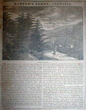 1832 illustrated newspaper w very early engraving HARPER'S FERRY West Virginia