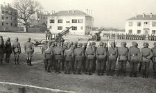 WWII German Large RPPC- Soldier- Flag- Artillery- 105mm Gun- Cannon- Ceremony