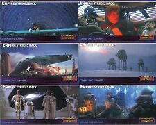 STAR WARS WIDEVISION EMPIRE COMPLETE SET OF 7 PROMO CARDS INCLUDING THE RARE P5
